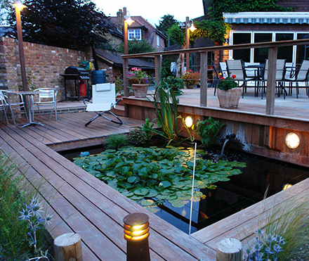 Deck lights and pond lights